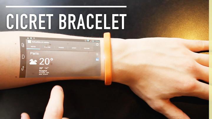 Cicret Bracelet: Die Technik von Morgen