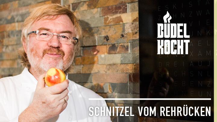 Büdel kocht: Schnitzel vom Rehrücken mit Spekulatiusbrösel auf Steckrüben