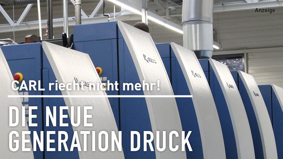 Carl riecht nicht mehr: Bösmanns neue Druckmaschine