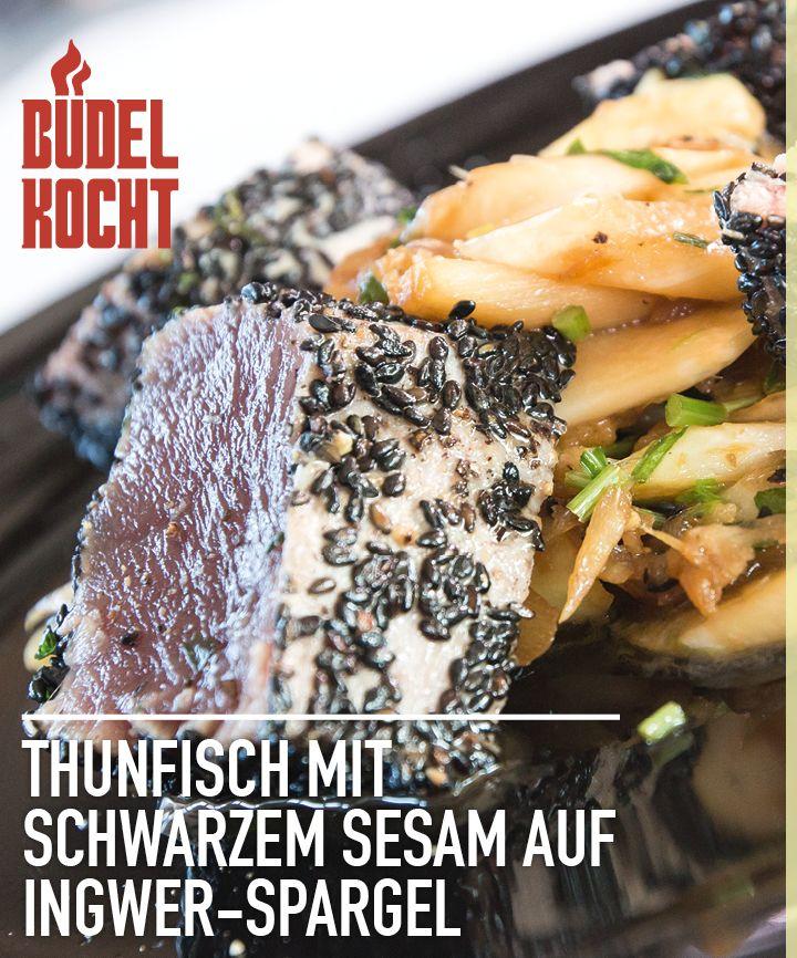 Büdel kocht im Video: Thunfisch mit schwarzem Sesam